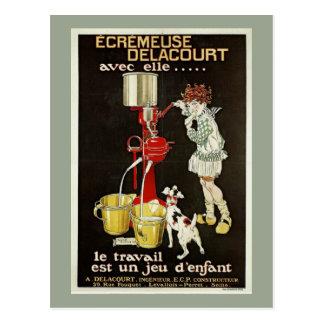Carte Postale Annonce française vintage de machine de séparateur