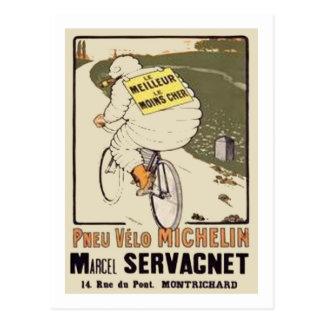 Carte Postale Annonce Marce de Vintage Michelin le Meilleur le
