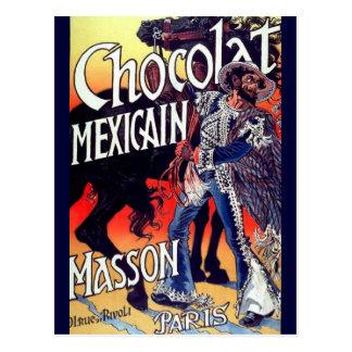 Carte Postale Annonce mexicaine de cru de chocolat de Masson