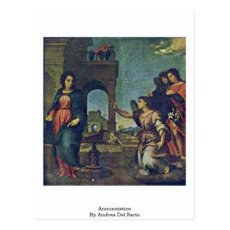 Carte Postale Annonce par Andrea del Sarto