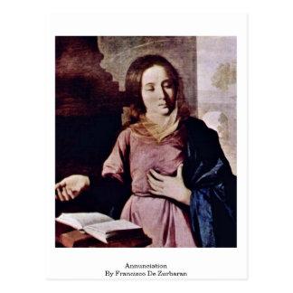 Carte Postale Annonce par Francisco De Zurbaran