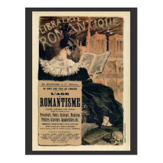 Carte Postale Annonce romantique vintage de livres