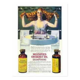 Carte Postale Annonce shampooing de Coles Phillips de nouveau