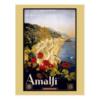 Carte Postale Annonce vintage Amalfi Italie de voyage de Litho