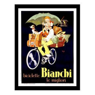 Carte Postale Annonce vintage de bicyclette de Bianchi d'Italien