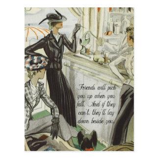 Carte Postale Annonce vintage de mode :  Amitié