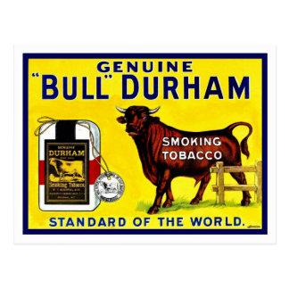 Carte Postale Annonce vintage de tabac de Taureau Durham de