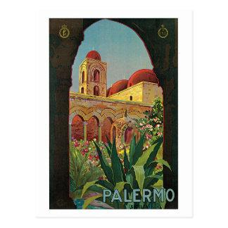 Carte Postale annonce vintage de voyage de Palerme Sicile des