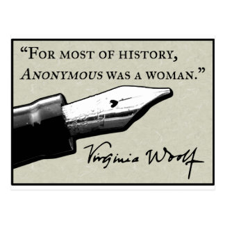 Carte Postale Anonyme était une femme