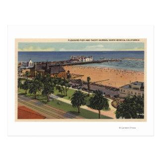 Carte Postale Antenne de port de pilier et de yacht de plaisir