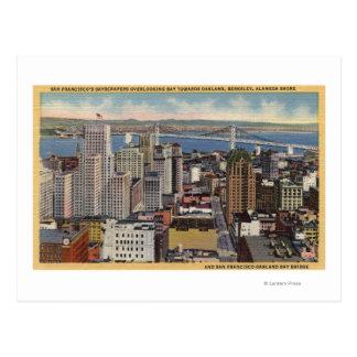Carte Postale Antenne du centre ville, vue de pont de baie