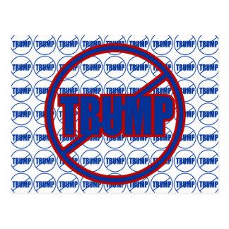 Carte Postale Anti atout aucune coutume Donald Trump d'atout