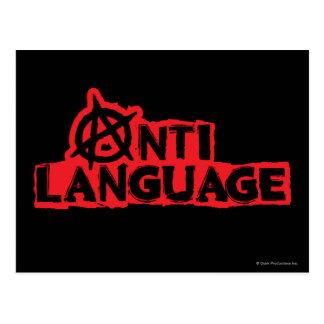 Carte Postale Anti-Langue