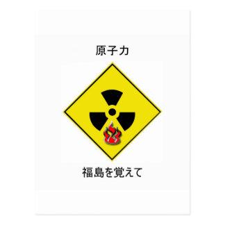 Carte Postale Anti logo nucléaire japonais