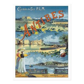 Carte Postale Antibes vintage méditerranéen