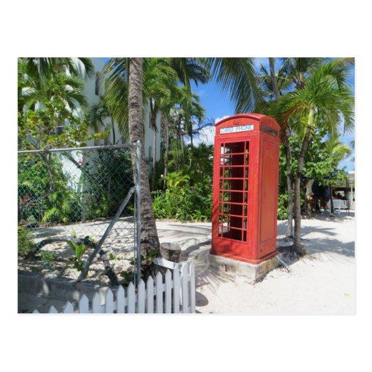 Carte Postale Antigua & Barbuda - Red Telephone Box