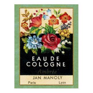 Carte postale antique de parfum d'Ambree de