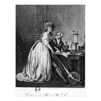 Carte Postale Antoine Laurent Lavoisier et son épouse