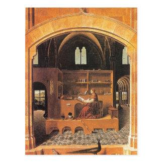 Carte Postale Antonello DA Messine - St Jerome dans son étude