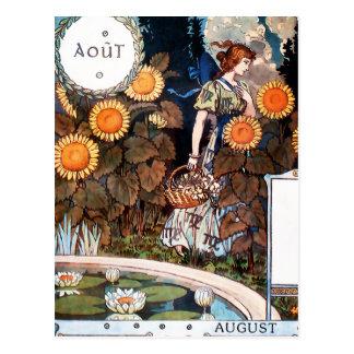 Carte postale :  Août Auot