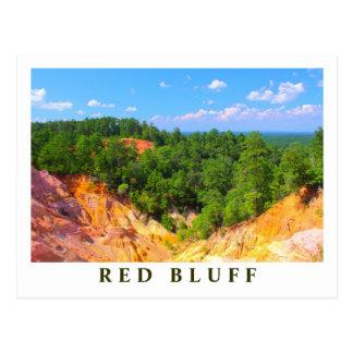 Carte Postale Aperçu rouge de paysage de bluff - scenics du