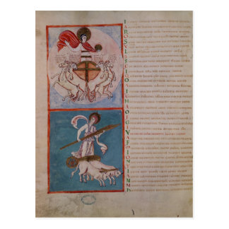 Carte Postale Apollo comme Sun et Diana comme lune