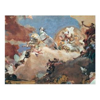 Carte Postale Apollo dans son char de Sun conduisant Béatrice I