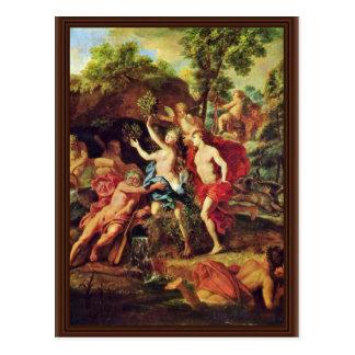 Carte Postale Apollo et Daphne par des toilettes Jean-Baptiste