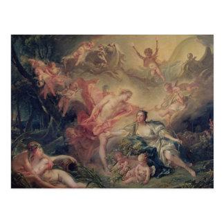 Carte Postale Apollo indiquant sa divinité