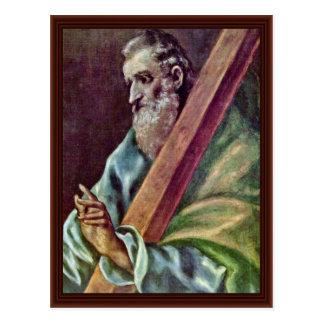 Carte Postale Apôtre saint Andrew par EL de Greco