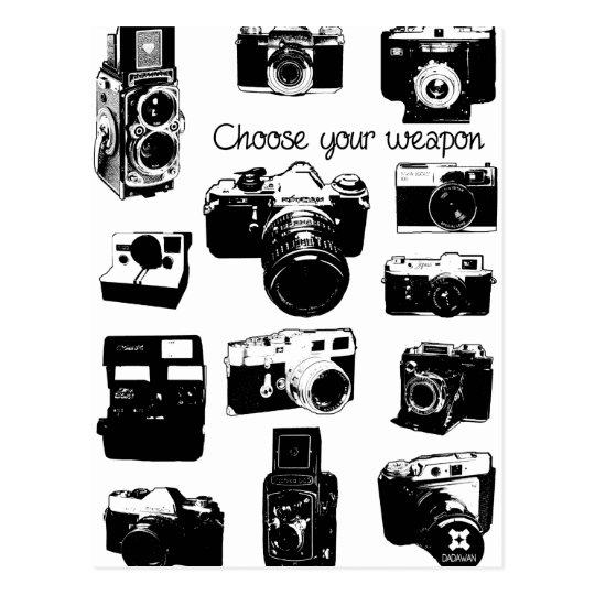 Carte Postale appareils photos vintage cameras