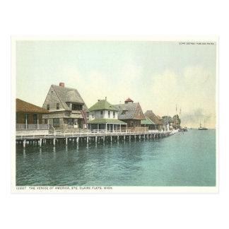 Carte Postale Appartements vintages Detroit Michigan de Sainte