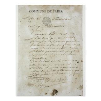 Carte Postale Appel de Maximilien de Robespierre