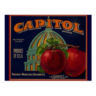Carte Postale Apple capital marquent Sacramento