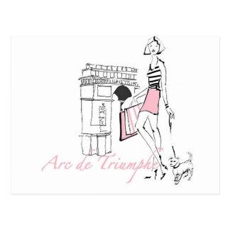 Carte Postale Apple sauvage   Arc de Triomphe - croquis Girly