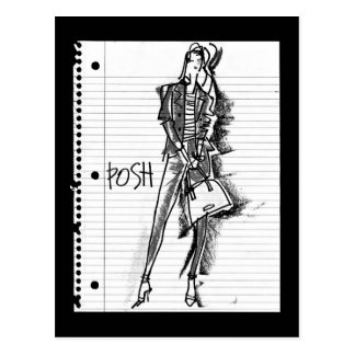 Carte Postale Apple sauvage   snob - croquis vintage énervé