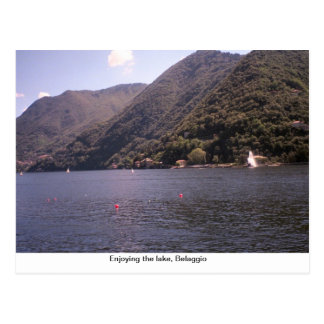 Carte Postale Apprécier le lac, Belaggio