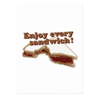 Carte Postale Appréciez chaque sandwich