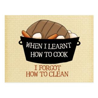 Carte Postale Apprenez à faire cuire