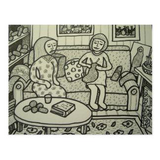 Carte Postale Apprenez à tricoter le BT Piliero
