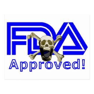 Carte Postale Approuvé par le FDA