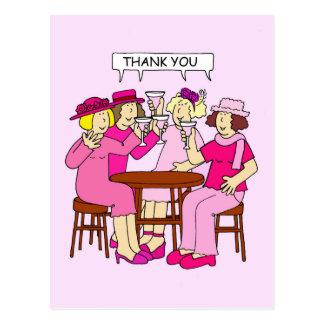 Carte Postale Appui de cancer du sein, Merci, dames dans le rose
