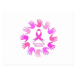 Carte Postale Appui de conscience de cancer du sein