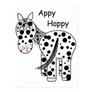 Carte Postale Appy heureux - Appaloosa de léopard