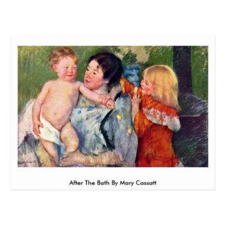 Carte Postale Après Bath par Mary Cassatt