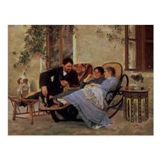 Carte Postale Après dîner, 1888