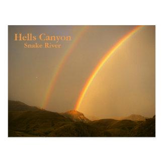 Carte Postale Après la tempête en canyon d'enfers