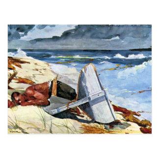 Carte Postale Après la tornade par Winslow Homer