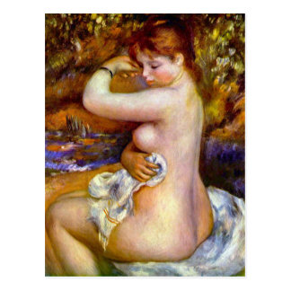 Carte Postale Après le bain par Pierre Renoir