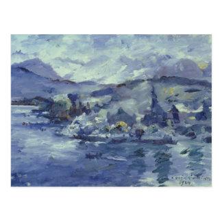 Carte Postale Après-midi sur le lac Lucerne, 1924